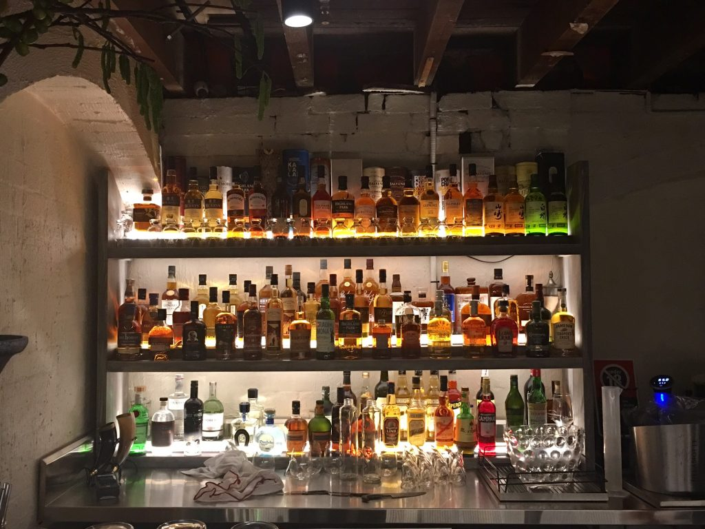 wide selection of whisky from around the world