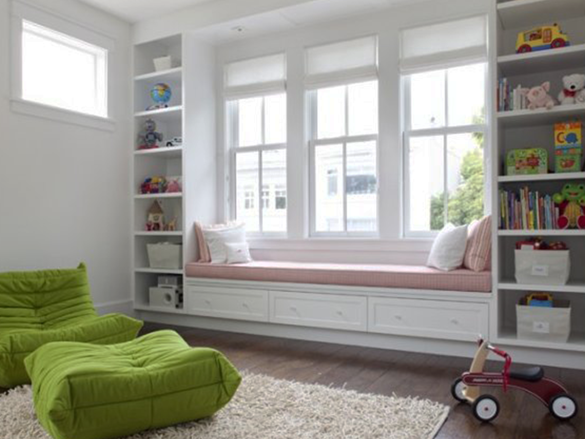 play room reading nook
