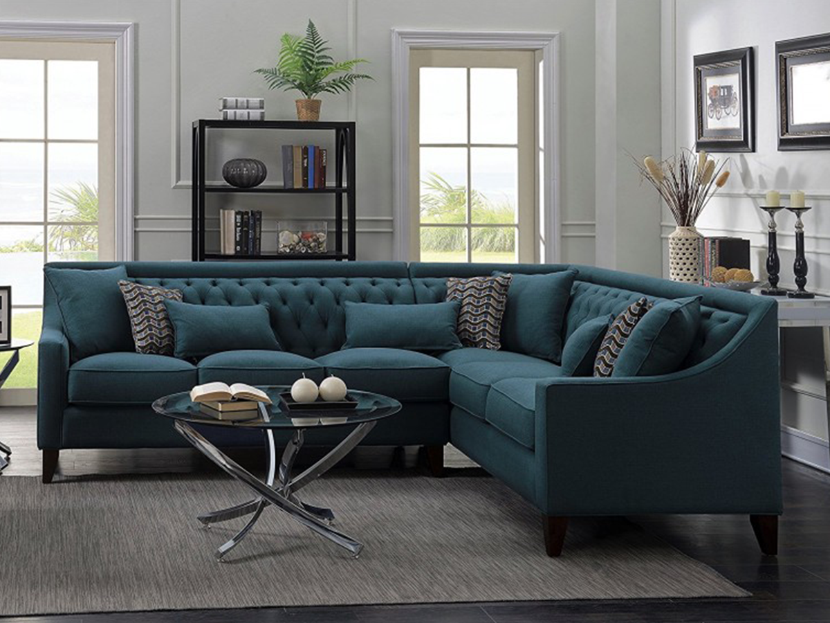 tufted contemporary couch