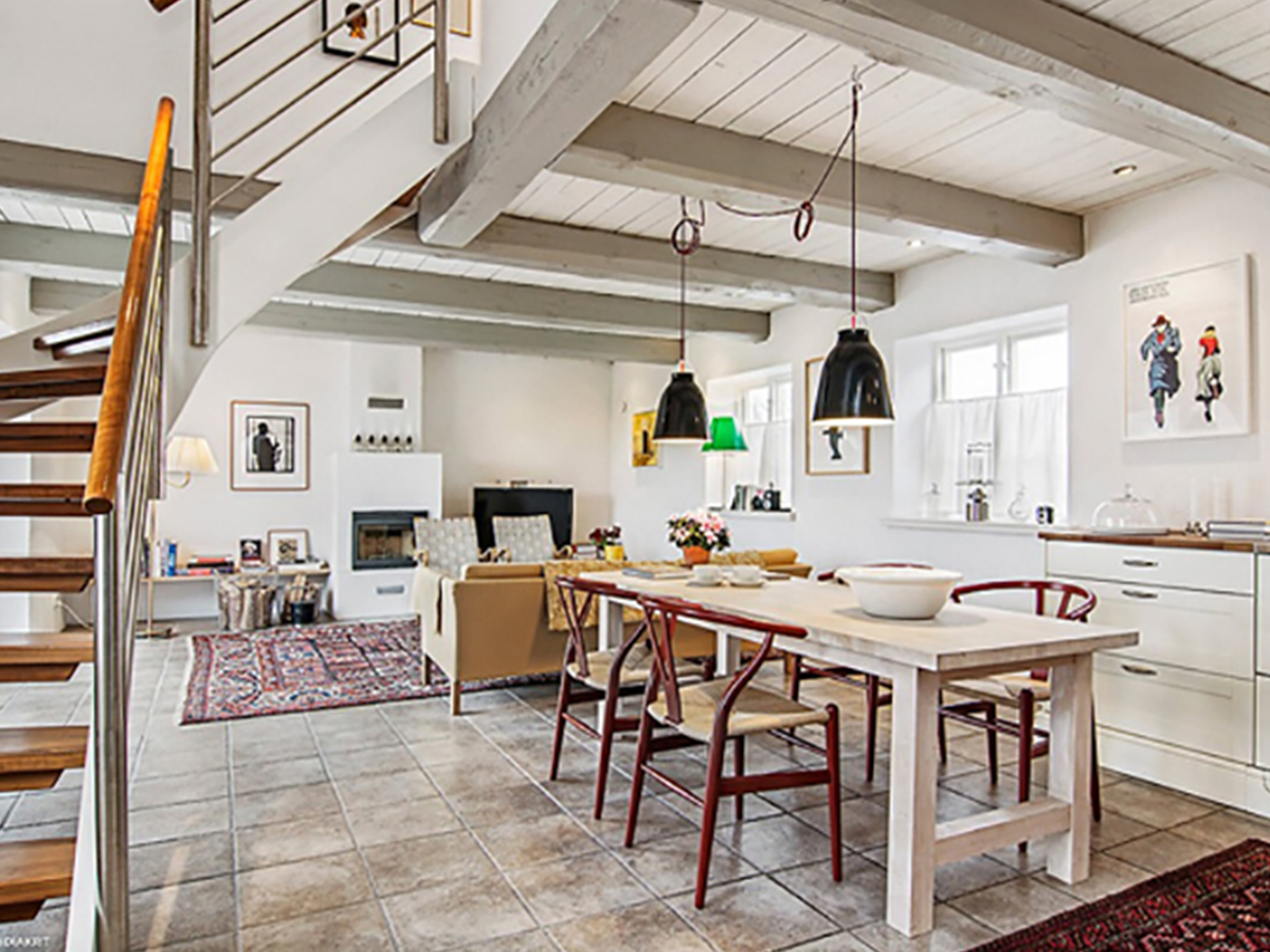 Farmhouse kitchen and loft