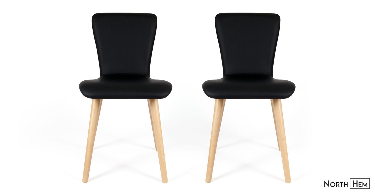 edel black vinyl dining chair