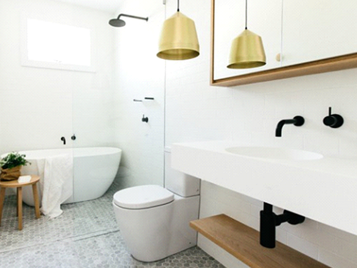 minimalist scandinavian bathrooms